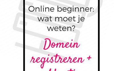 Hosting & domein registreren